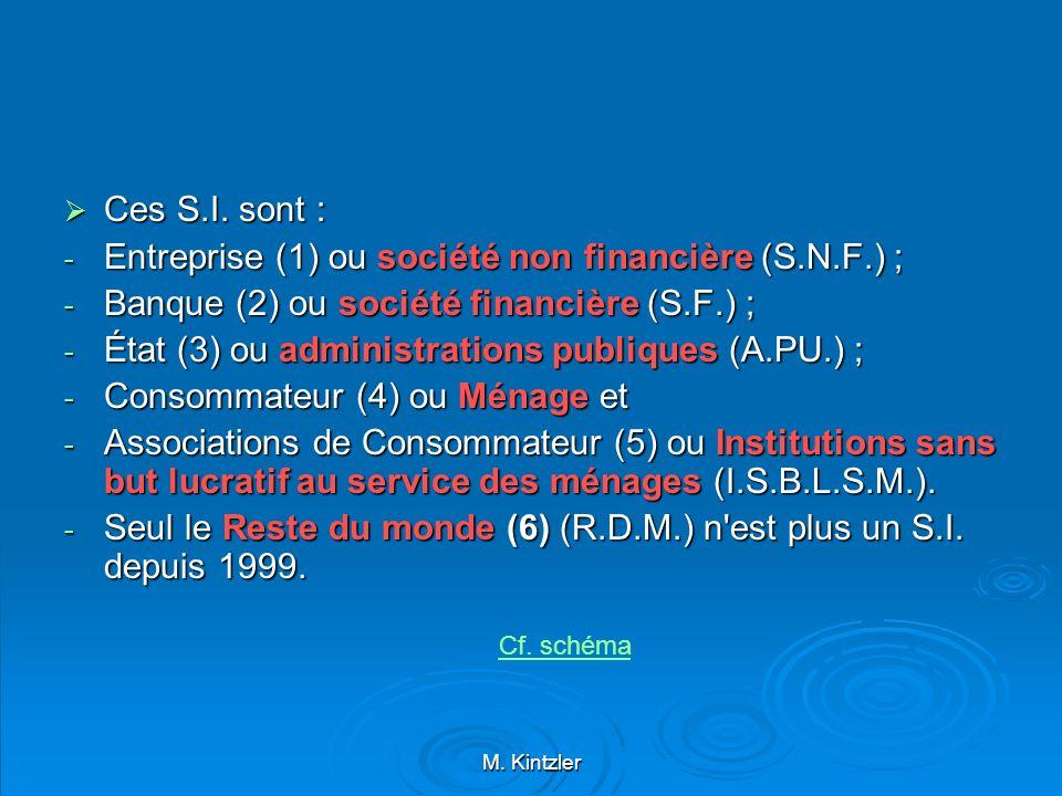 Entreprise (1) ou société non financière (S.N.F.) ;