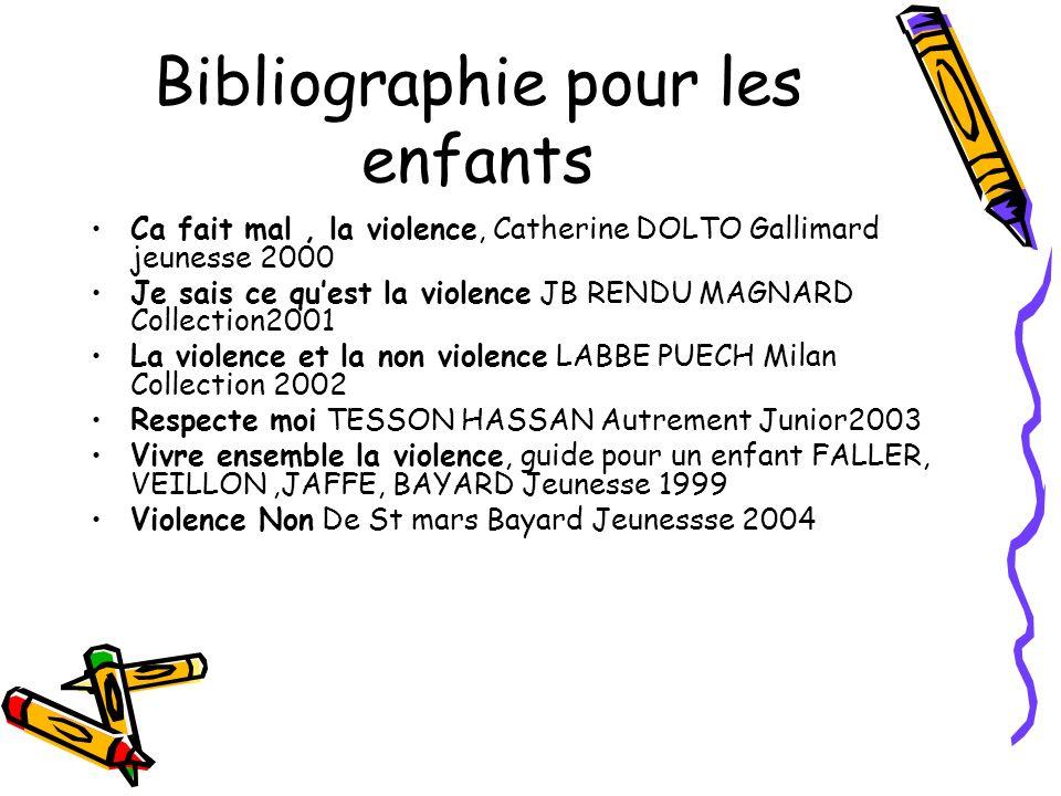 Bibliographie pour les enfants