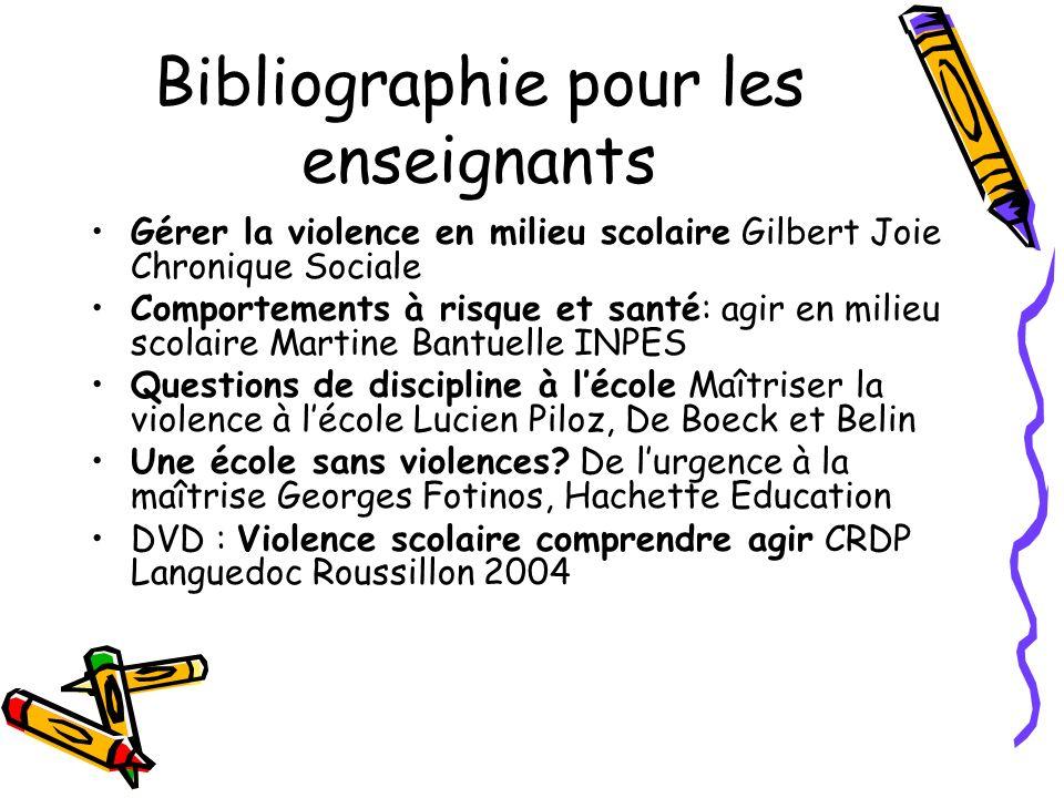 Bibliographie pour les enseignants