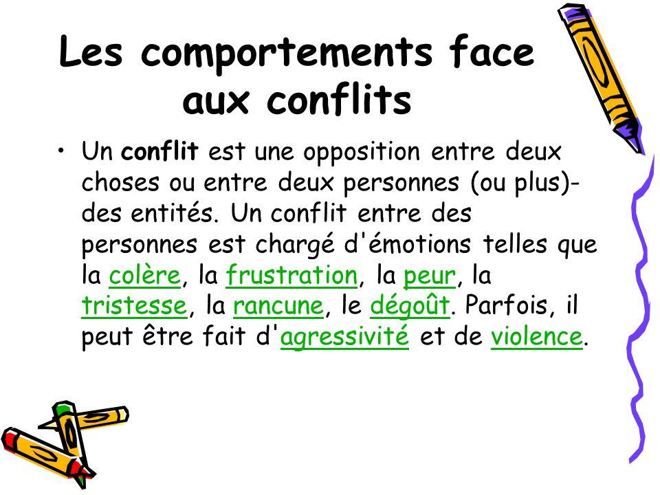 Les comportements face aux conflits