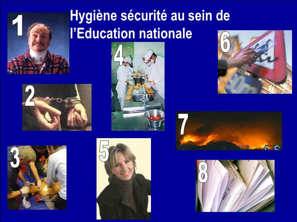 Hygiène sécurité au sein de l'Education nationale