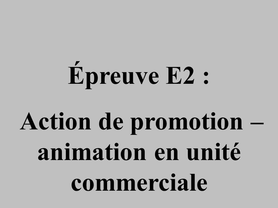 Action de promotion – animation en unité commerciale