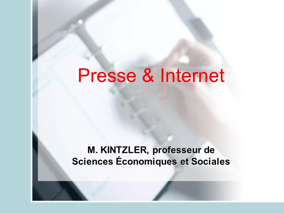 M. KINTZLER, professeur de Sciences Économiques et Sociales