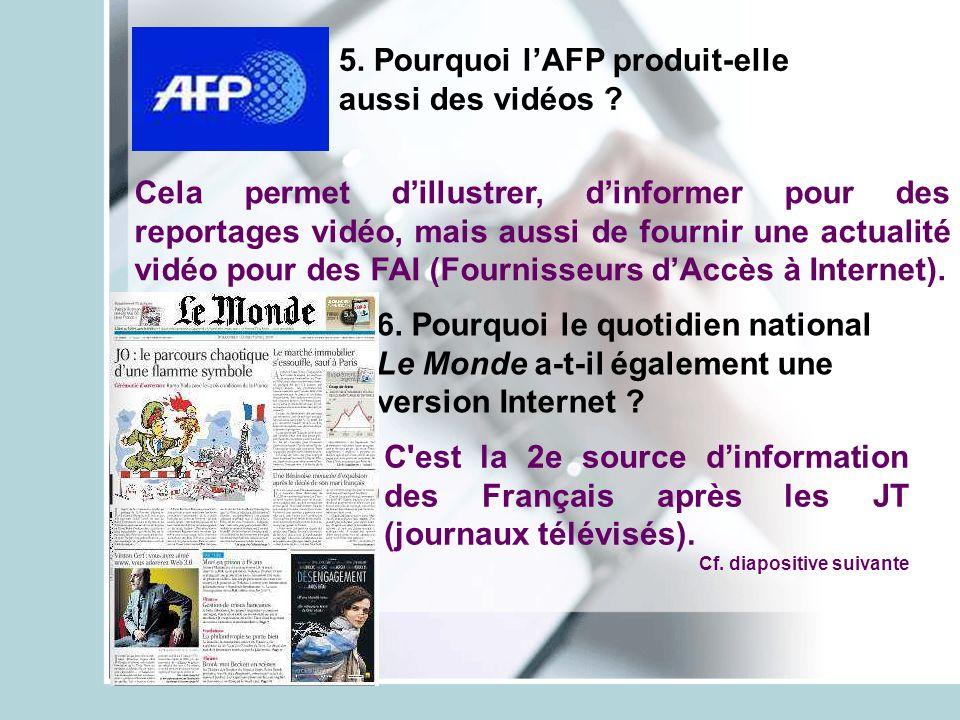5. Pourquoi l'AFP produit-elle aussi des vidéos