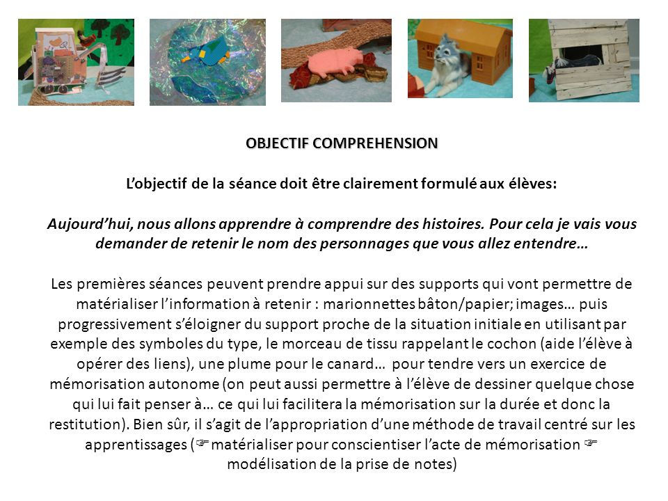 OBJECTIF COMPREHENSION