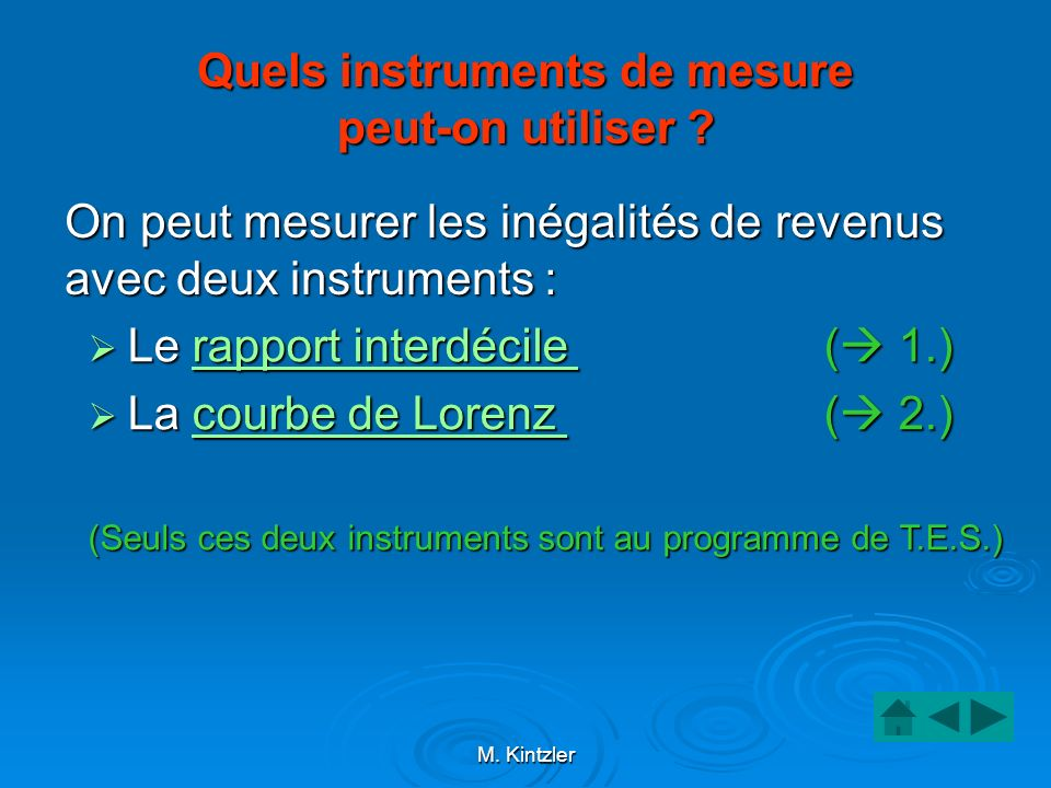 Quels instruments de mesure peut-on utiliser