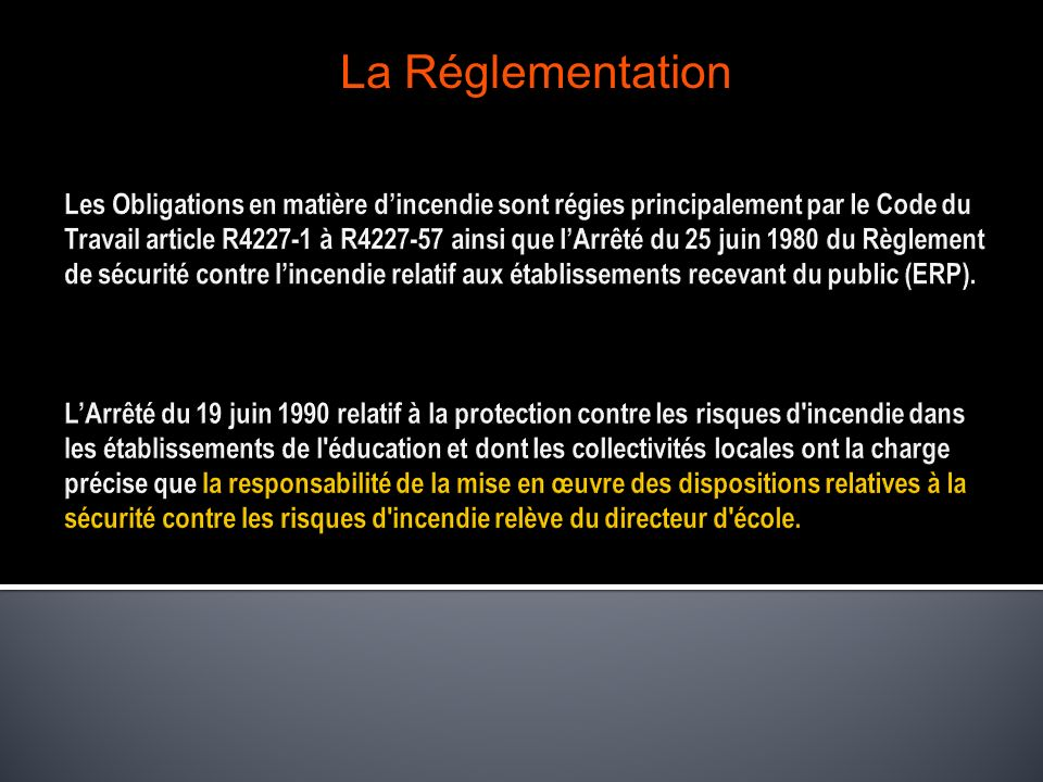 La Réglementation