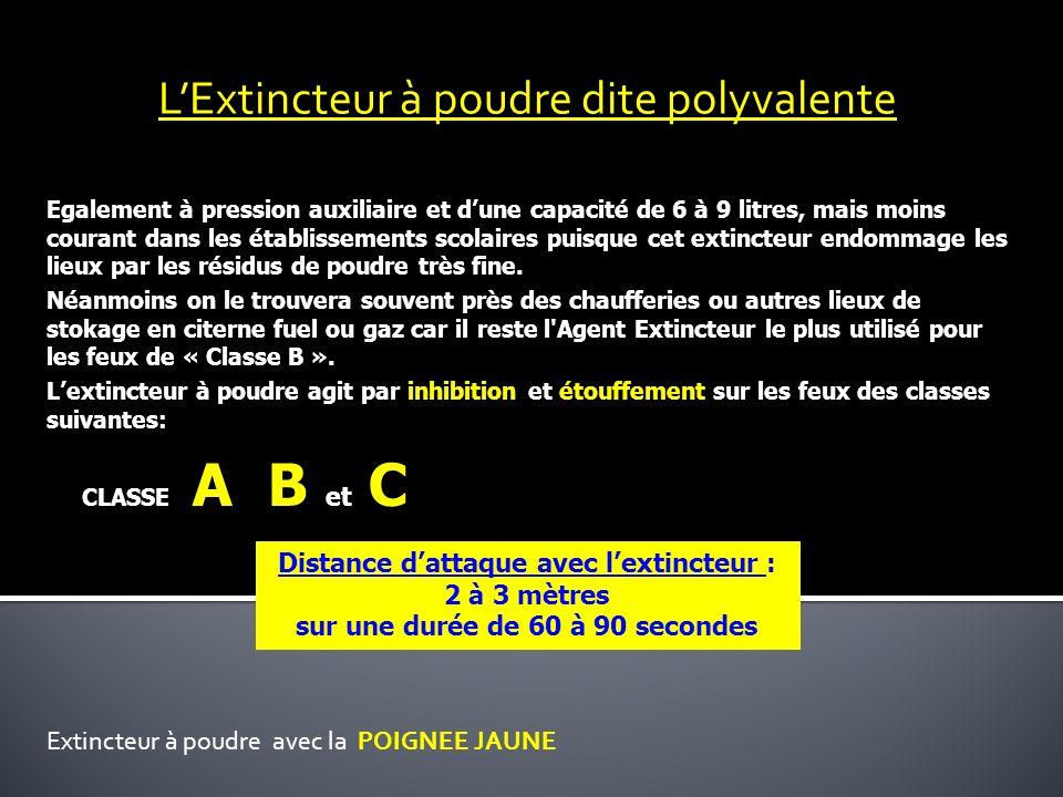 L'Extincteur à poudre dite polyvalente