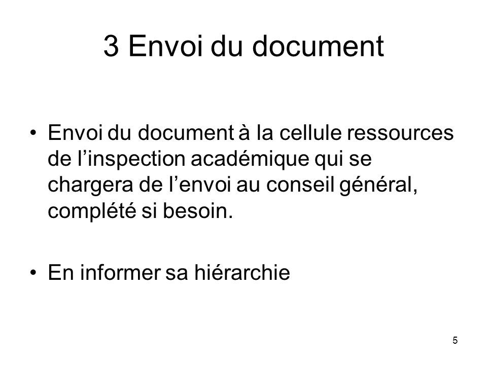 3 Envoi du document