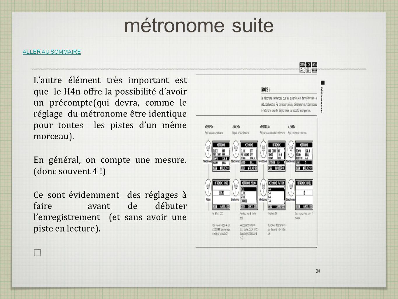 métronome suite ALLER AU SOMMAIRE.