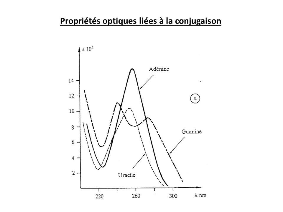 Propriétés optiques liées à la conjugaison