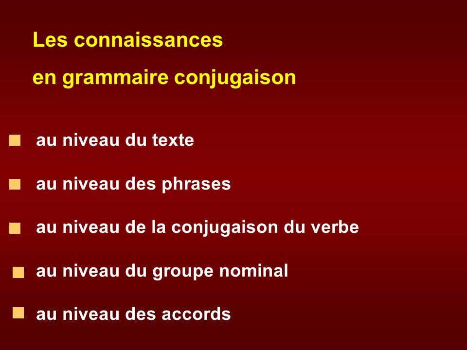 en grammaire conjugaison