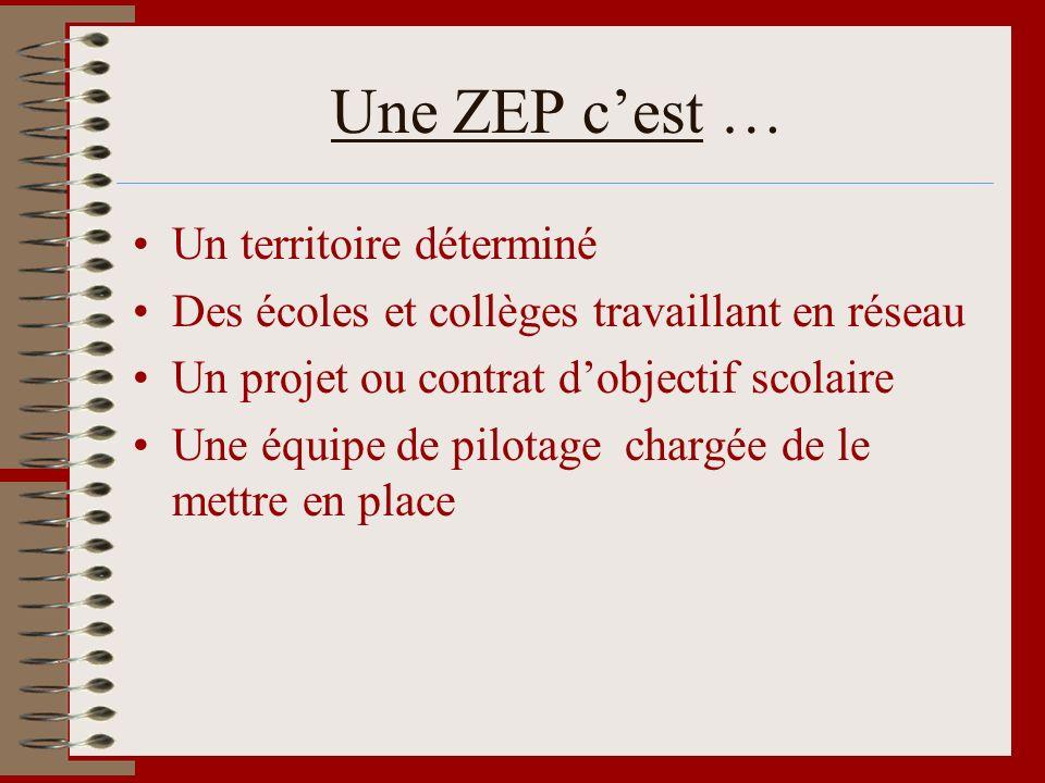 Une ZEP c'est … Un territoire déterminé