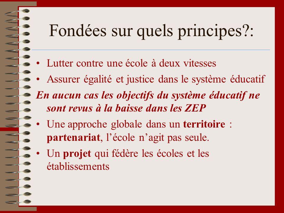 Fondées sur quels principes :