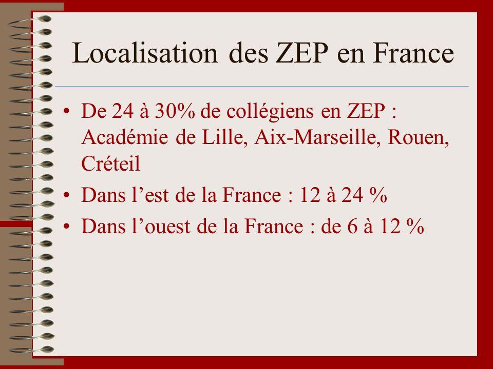 Localisation des ZEP en France