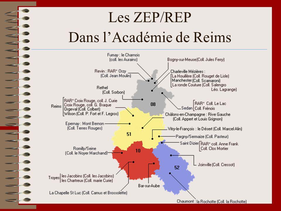 Les ZEP/REP Dans l'Académie de Reims