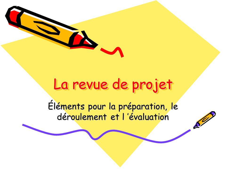 Éléments pour la préparation, le déroulement et l 'évaluation
