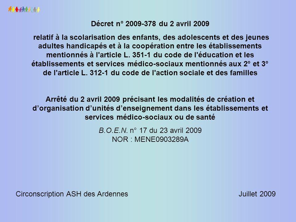 B.O.E.N. n° 17 du 23 avril 2009 NOR : MENE0903289A