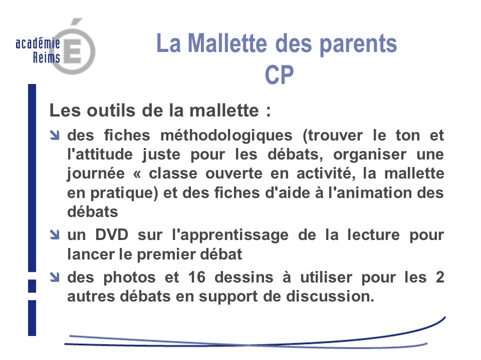 La Mallette des parents CP