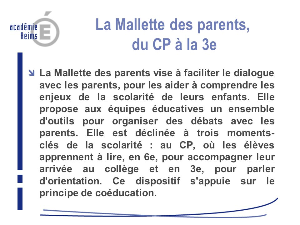 La Mallette des parents, du CP à la 3e