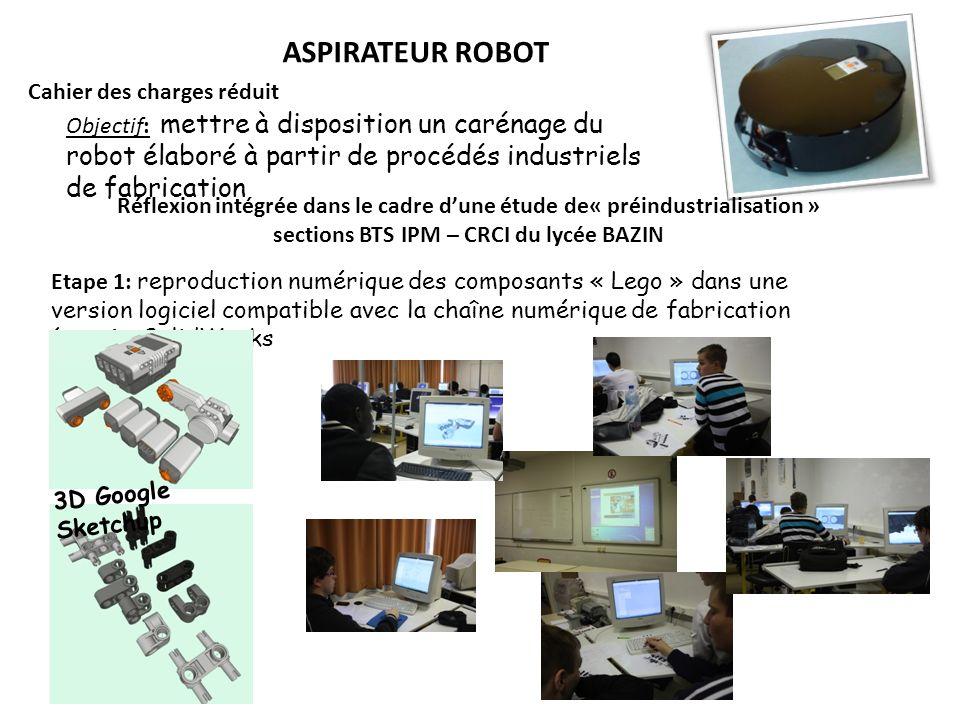 ASPIRATEUR ROBOT Cahier des charges réduit