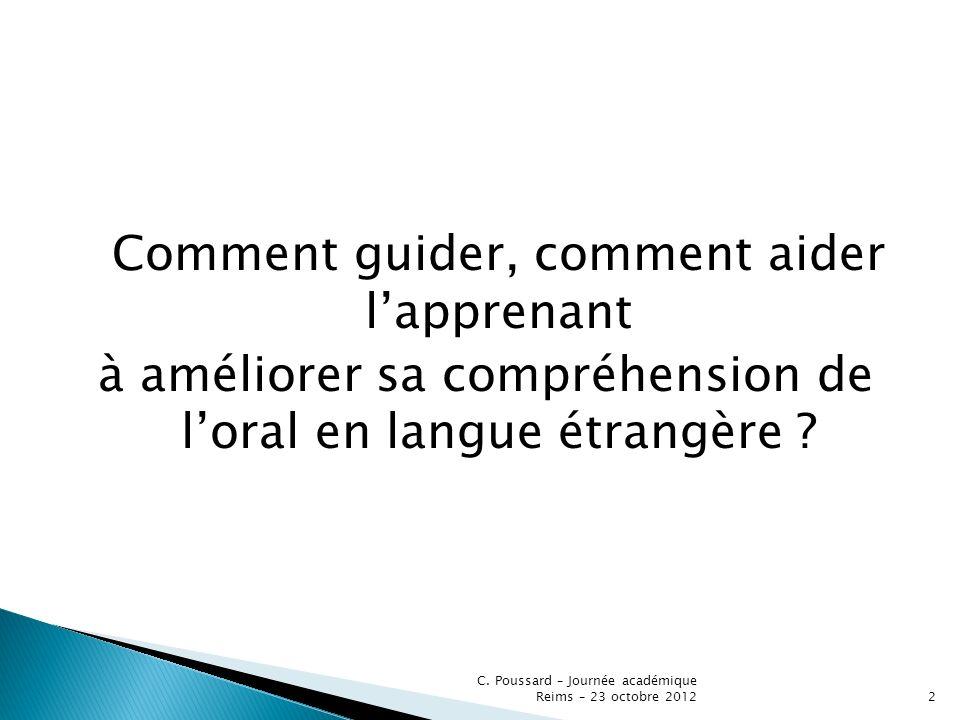 à améliorer sa compréhension de l'oral en langue étrangère