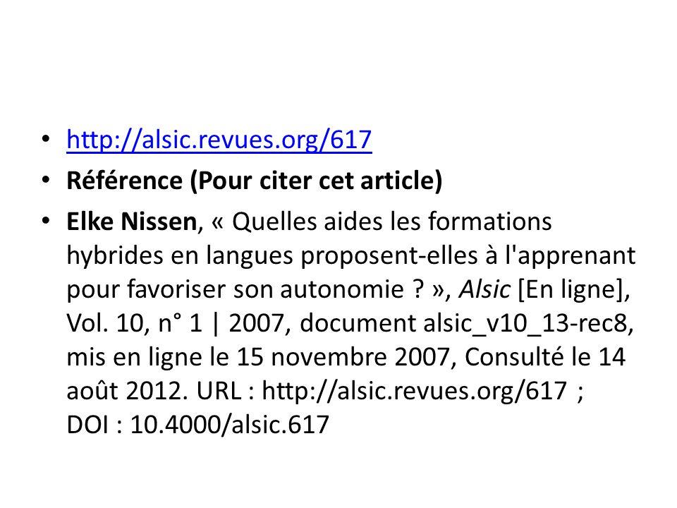 http://alsic.revues.org/617 Référence (Pour citer cet article)