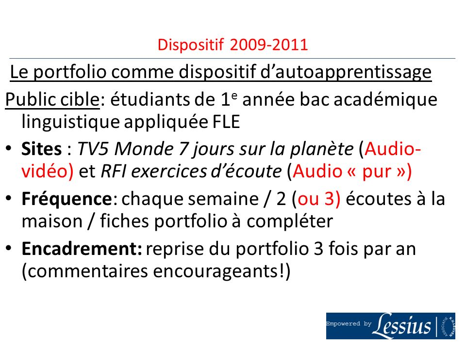 Le portfolio comme dispositif d'autoapprentissage