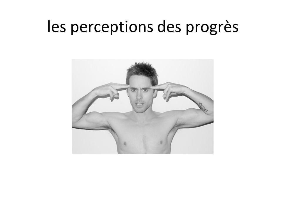 les perceptions des progrès