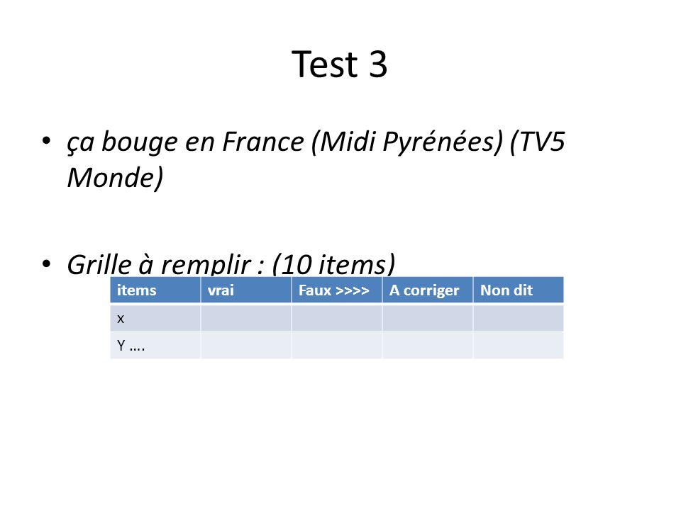 Test 3 ça bouge en France (Midi Pyrénées) (TV5 Monde)