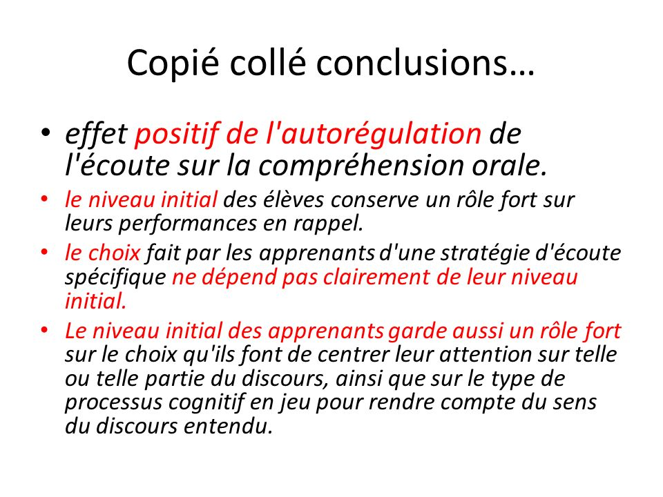 Copié collé conclusions…