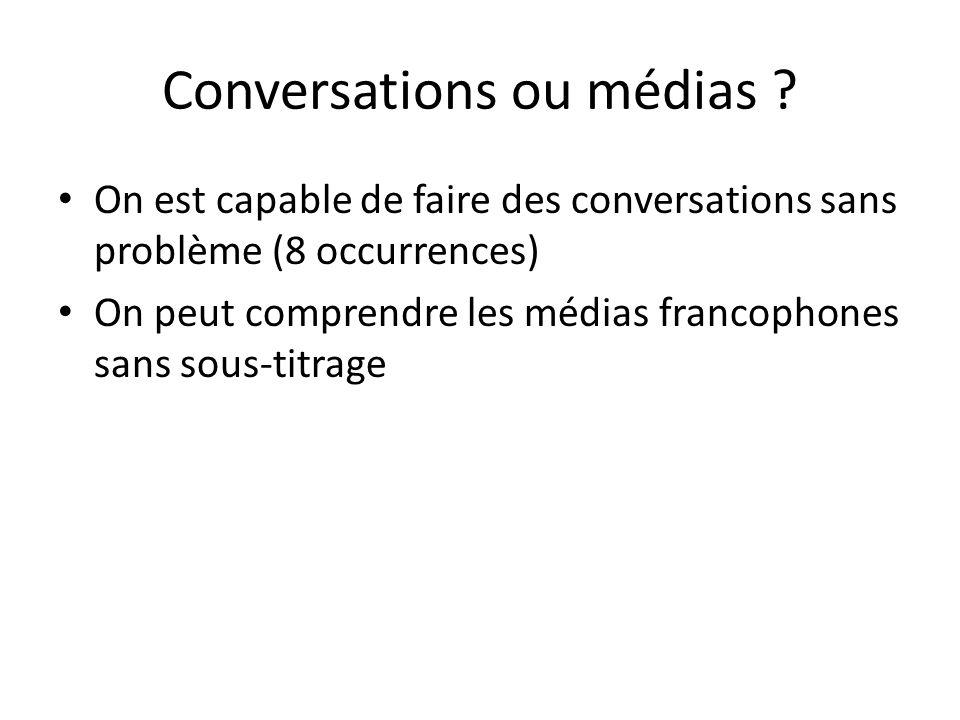 Conversations ou médias