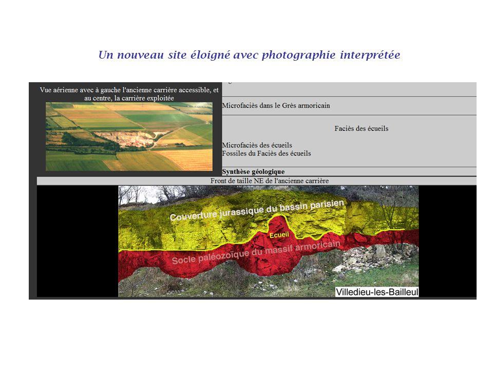 Un nouveau site éloigné avec photographie interprétée