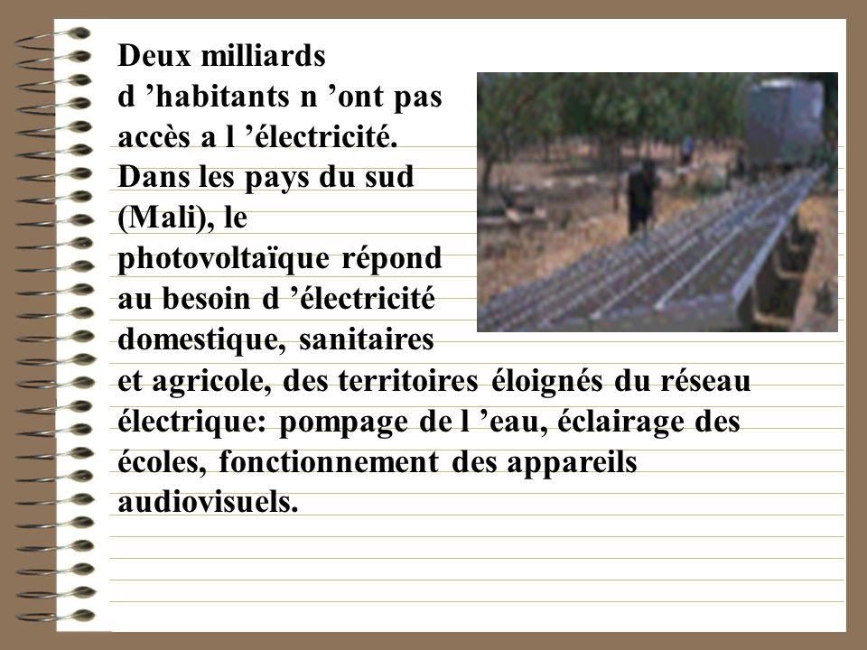 Deux milliards d 'habitants n 'ont pas accès a l 'électricité