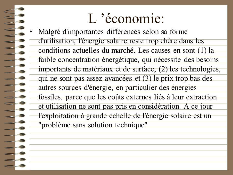 L 'économie: