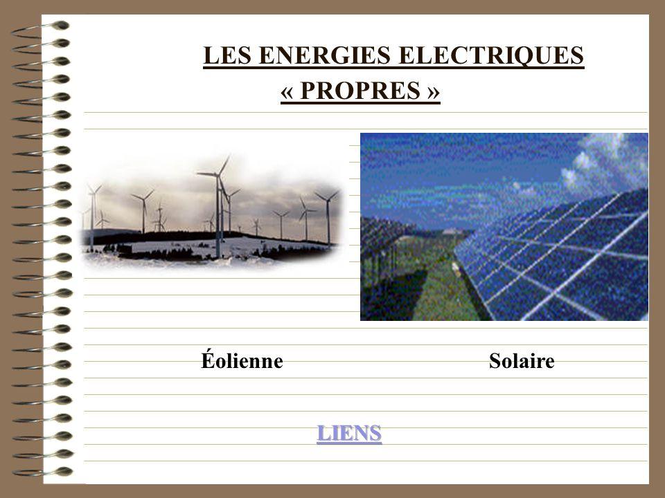 LES ENERGIES ELECTRIQUES « PROPRES »
