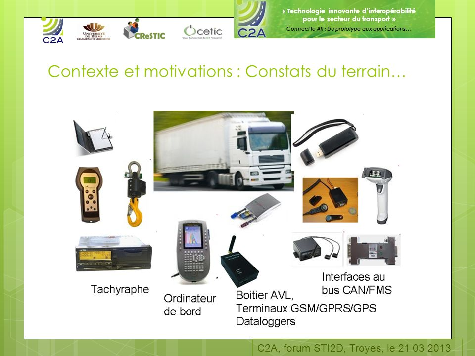 Contexte et motivations : Constats du terrain…