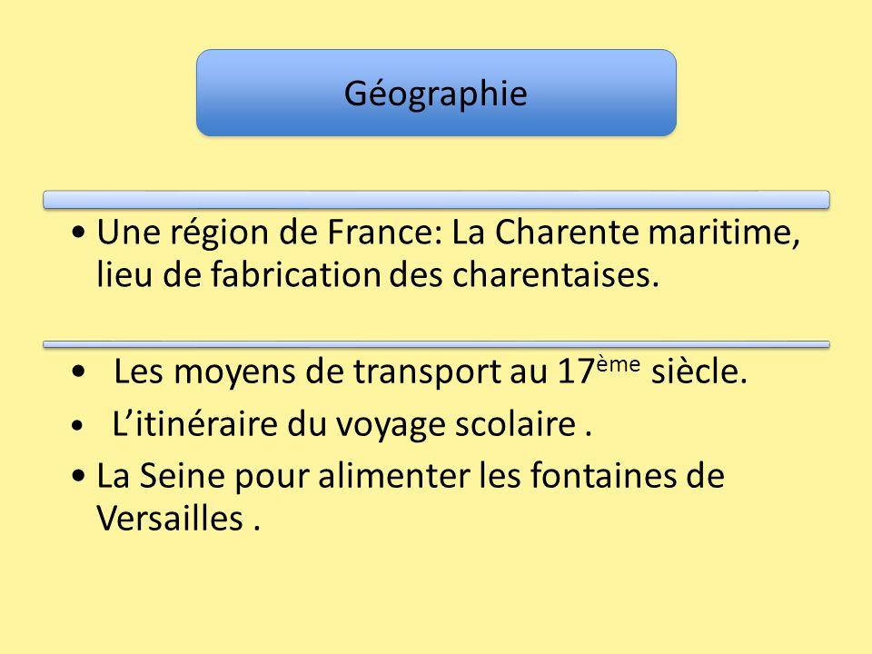 Les moyens de transport au 17ème siècle.