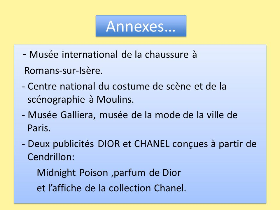 Annexes… - Musée international de la chaussure à Romans-sur-Isère.