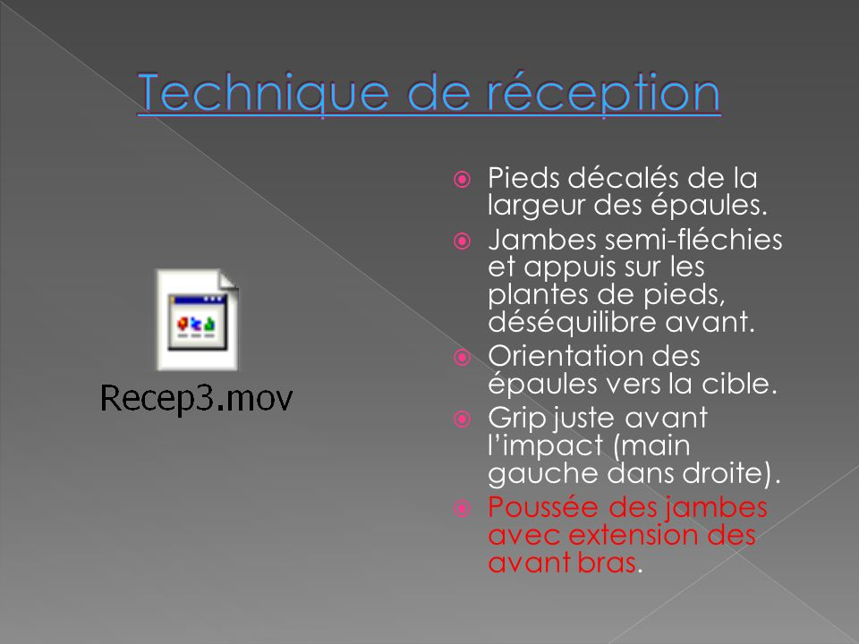 Technique de réception