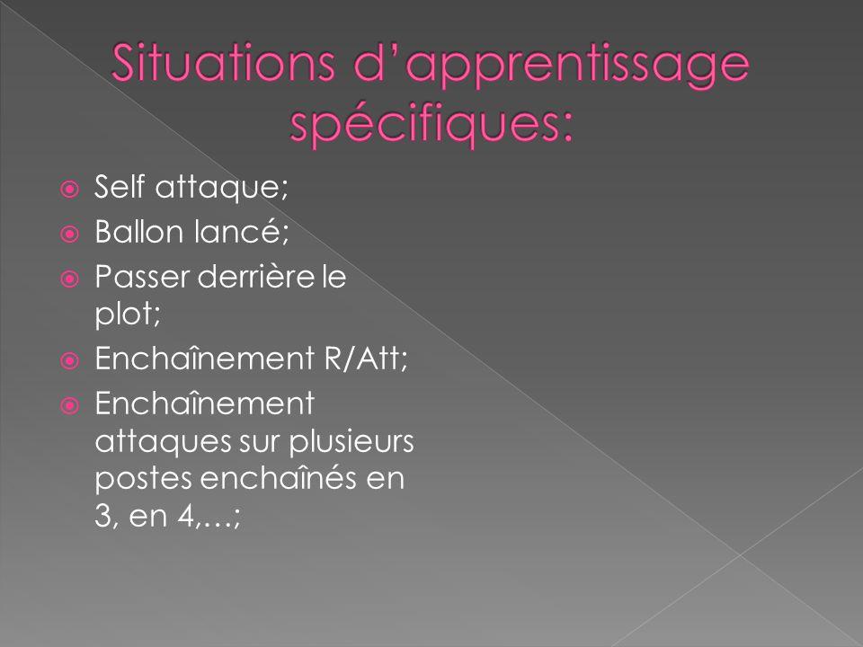 Situations d'apprentissage spécifiques: