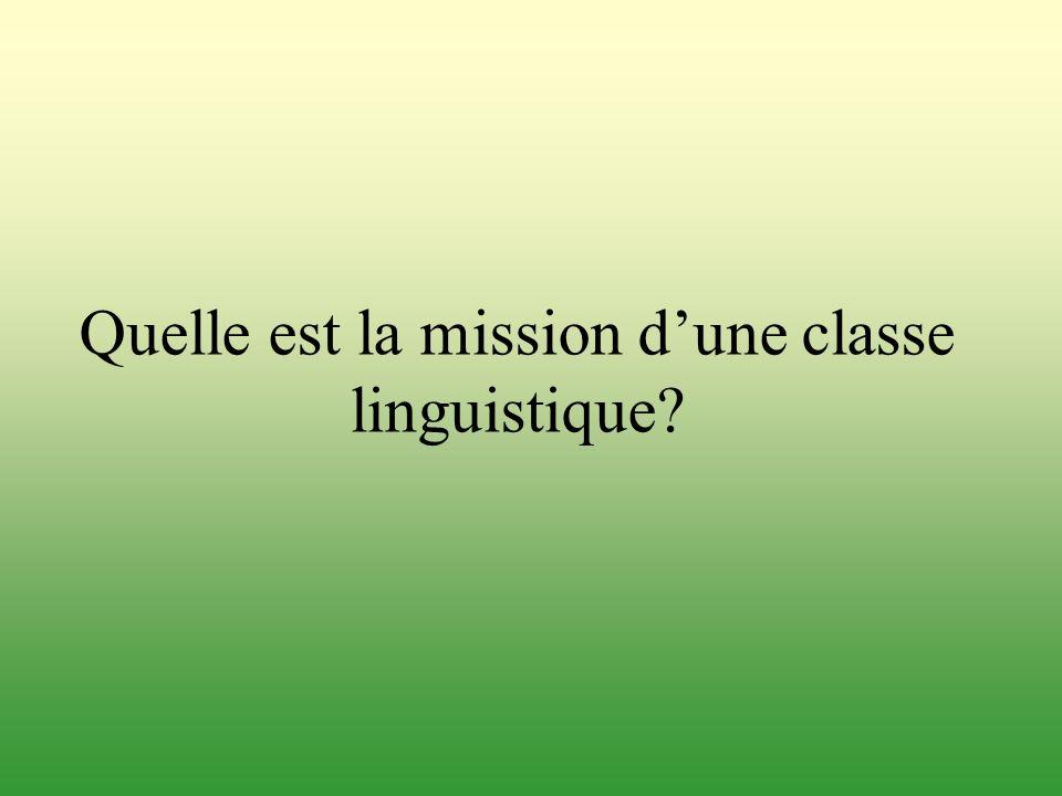 Quelle est la mission d'une classe