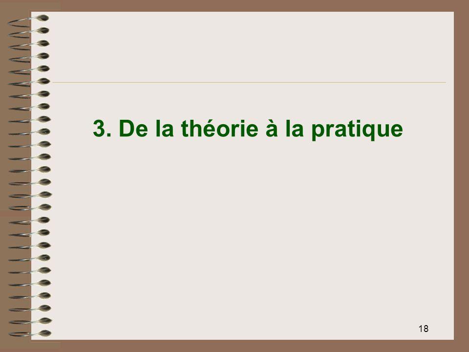 3. De la théorie à la pratique