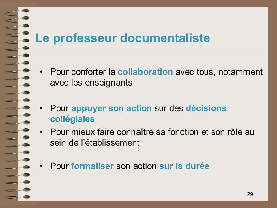 Le professeur documentaliste