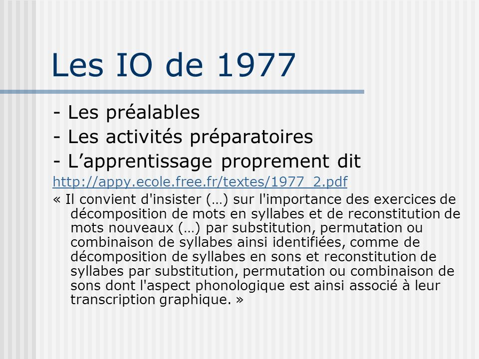 Les IO de 1977 - Les préalables - Les activités préparatoires