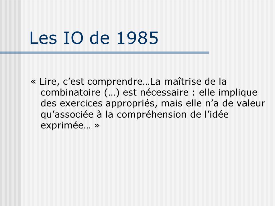 Les IO de 1985