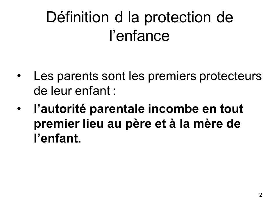 Définition d la protection de l'enfance