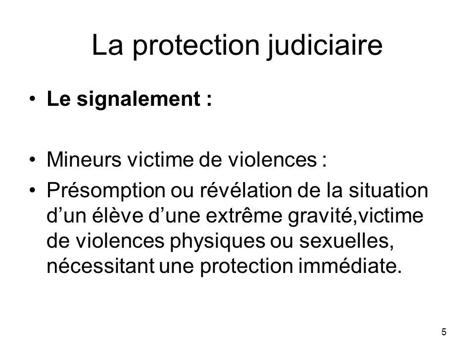 La protection judiciaire