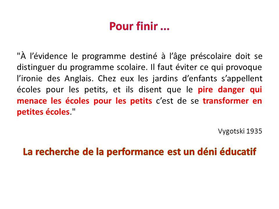 La recherche de la performance est un déni éducatif