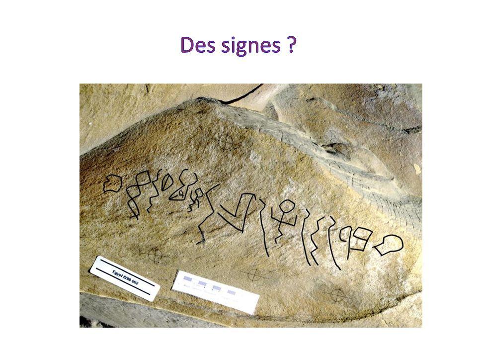 Des signes Inscriptions trouvées à Wadi el Hol. Auraient été tracés sous le Moyen Empire, autour de 1800 av. J.C.